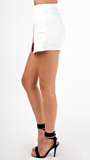 Mini Skort With Front Slit