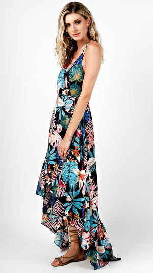 Colorful Tropical Maxi Dress