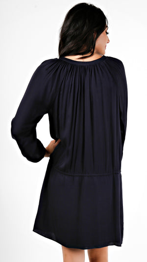 V- Neck Long Sleeve Dress