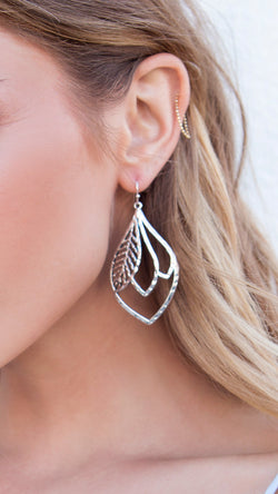 Teardrop Leaf Design Earrings