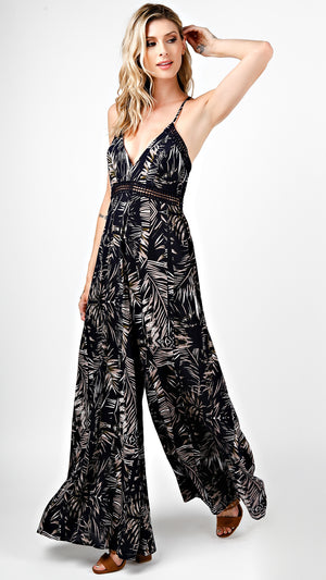 Havana Printed V-Neck Jumpsuit