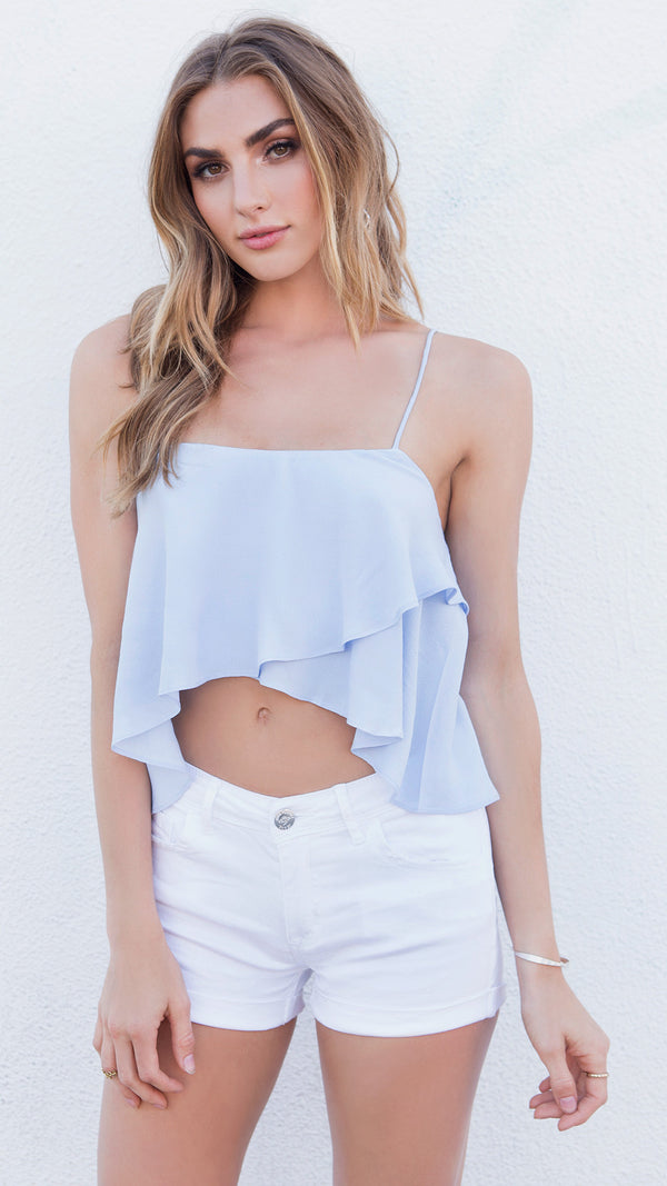 Cloud Nine Cami Crop Top - Msky