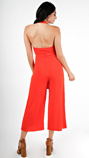 Halter Crop Top And Pants Set