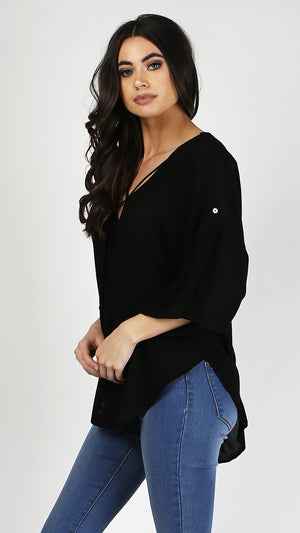 Criss Cross V-Neck Top - ANGL