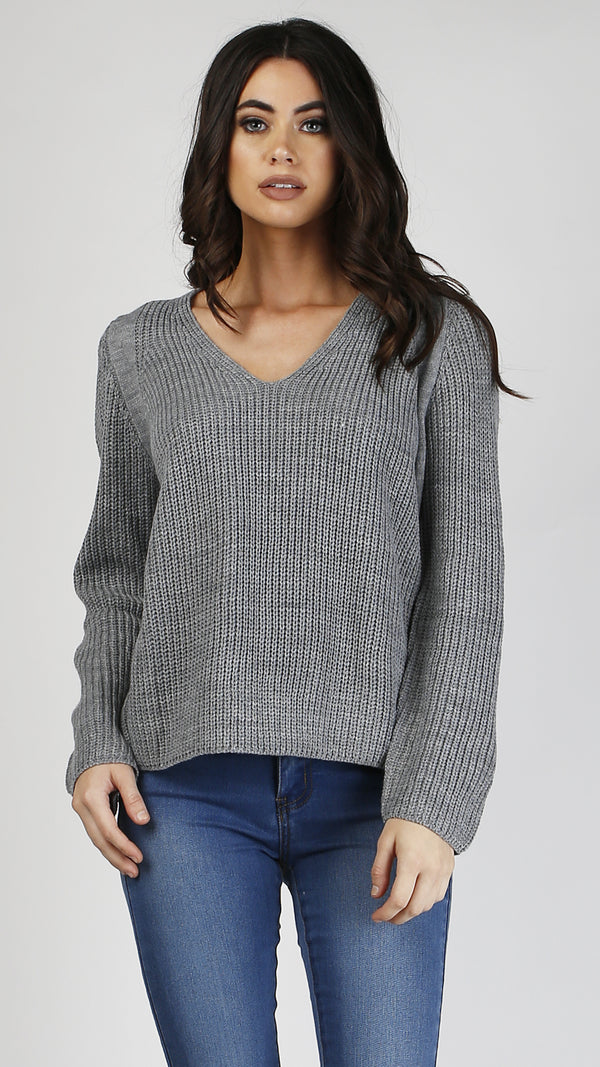 V Neck Cozy Long Sleeve Sweater