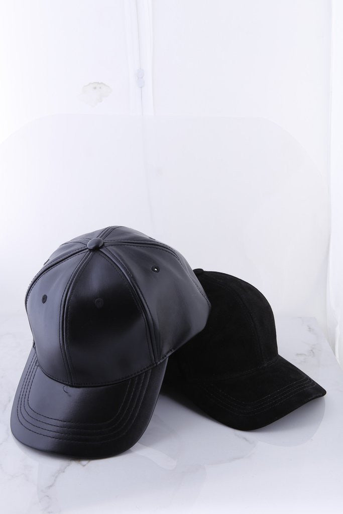 City Chic Pleather Baseball Hat - ANGL