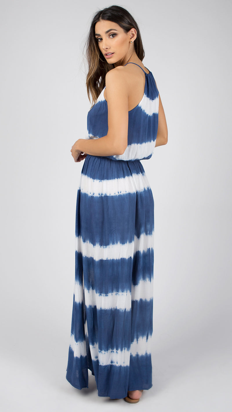 Stripe Tie Dye Maxi Dress