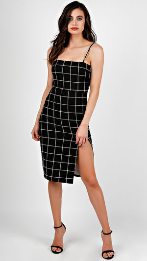 Grid Pattern Dress
