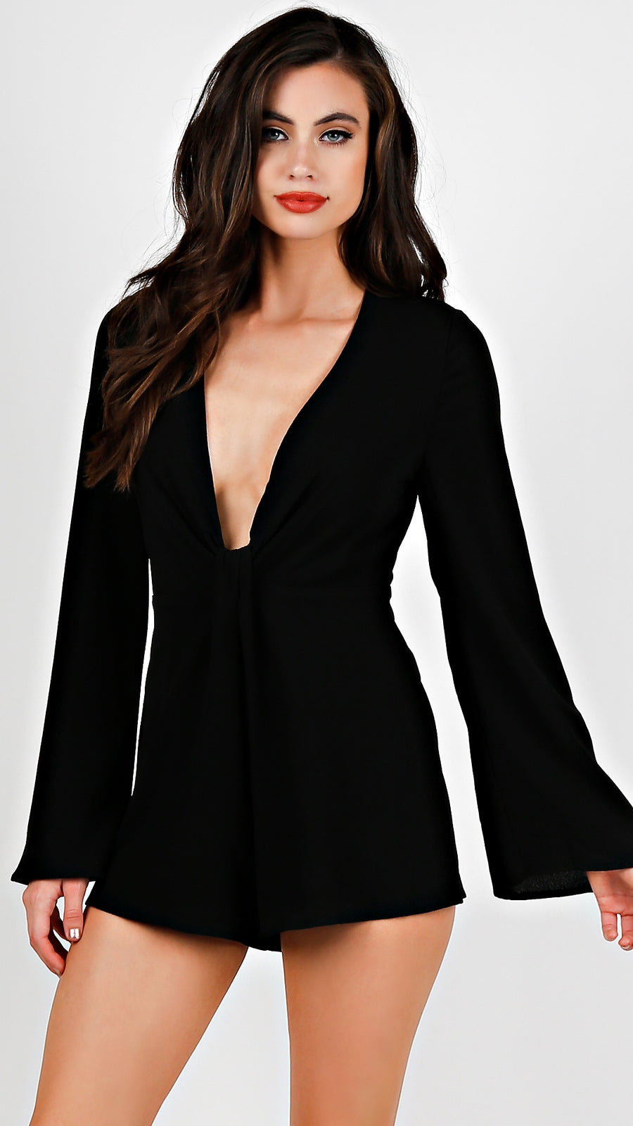 Bell Sleeve Romper - ANGL