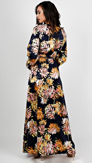 Silky Floral Maxi Dress