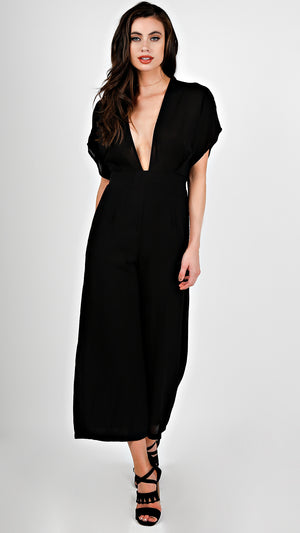 Deep V-Neck Jumpsuit