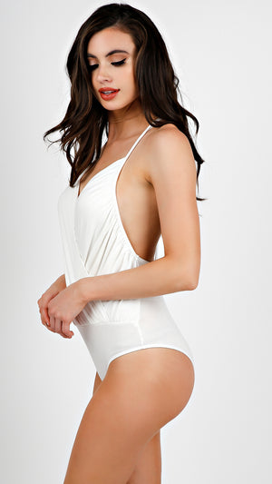 Surplice Wrap Bodysuit