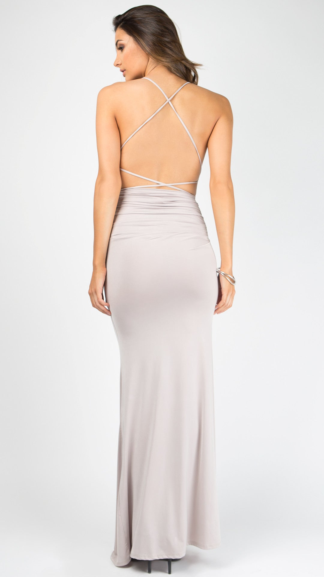 0e1b0e59b0 Strappy Back Thin Strap Maxi Dress - ANGL