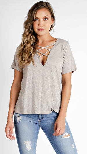 Criss Cross Front T-Shirt
