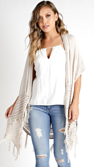 Crochet Fringed Cover Up