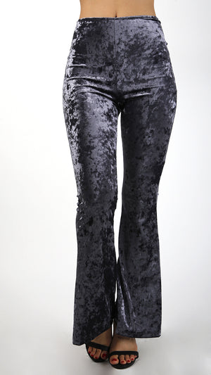 Velvet Bell Bottom Pants