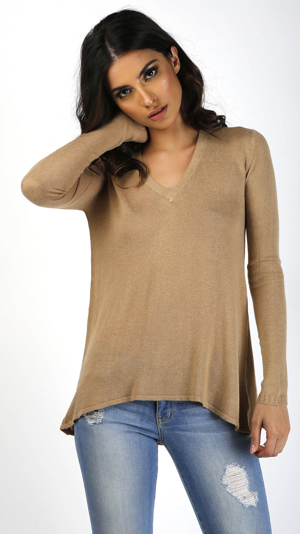 Casual Thin Sweater Top - Msky
