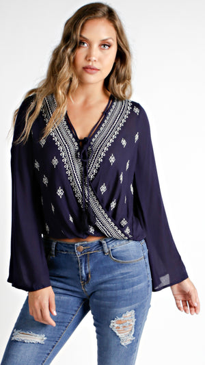 Mosaic Embroidered Top