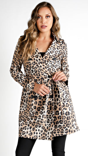 Leopard Trench Coat