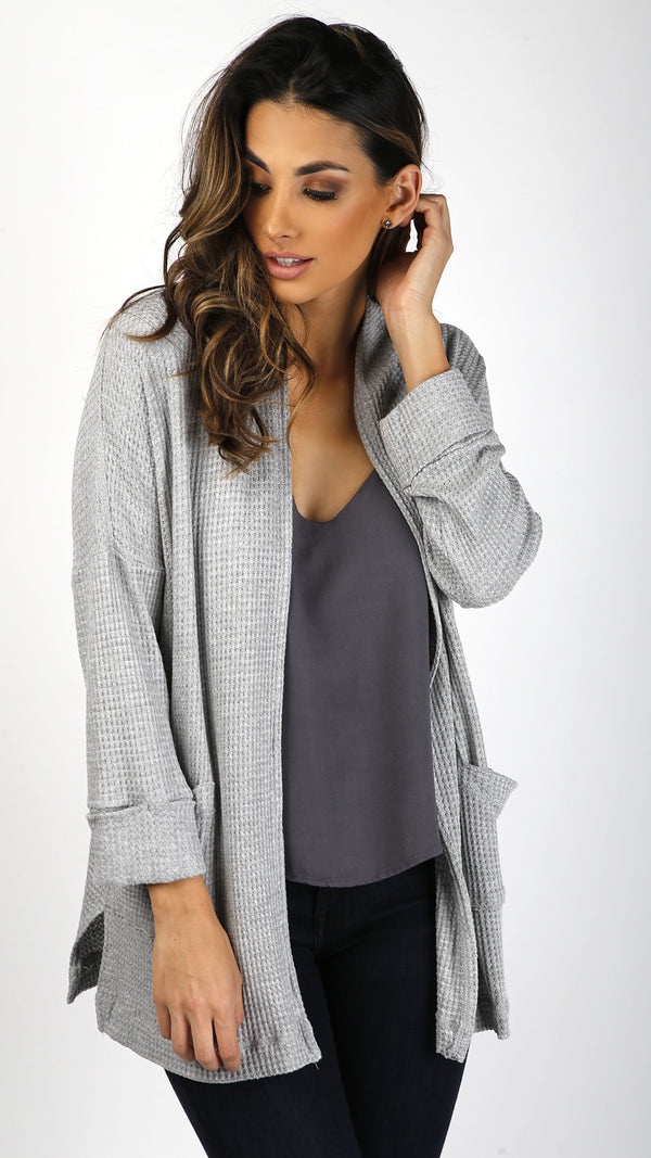 Knit Cardigan With Dropped Shoulder