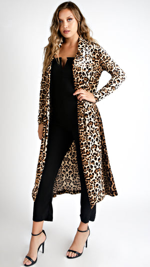 Velvety Cheetah Coat