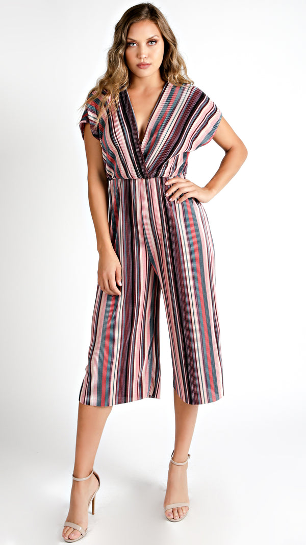 Mulberry Striped Midi Jumpsuit