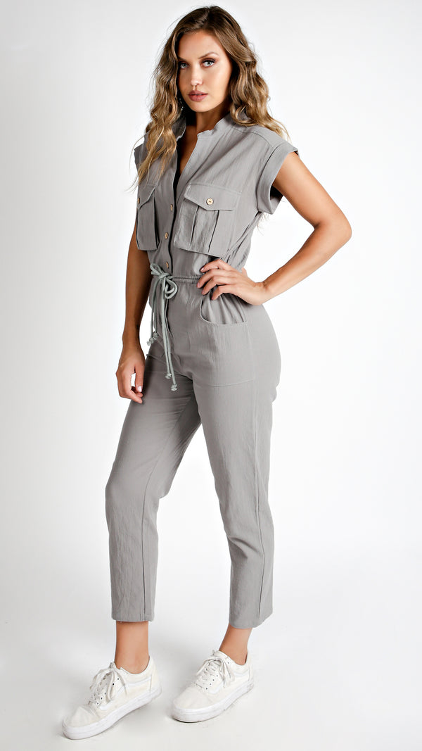 Military Cargo Jumpsuit