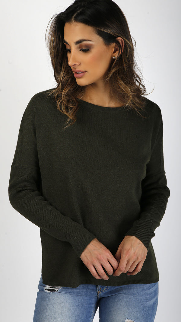 Simple Wool Long Sleeve Sweater