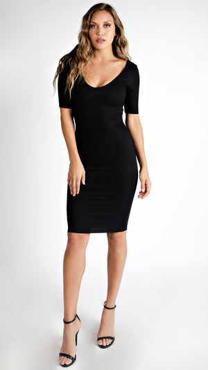 Ribbed Classic Midi Dress