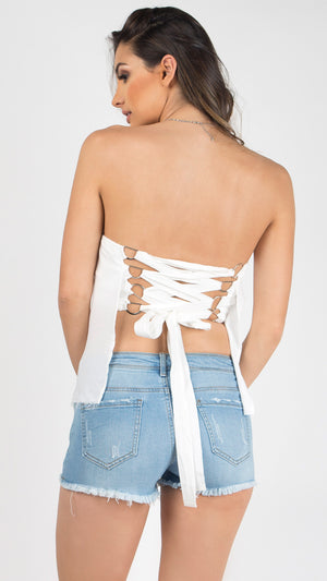 Angel Lace Up Tube Top
