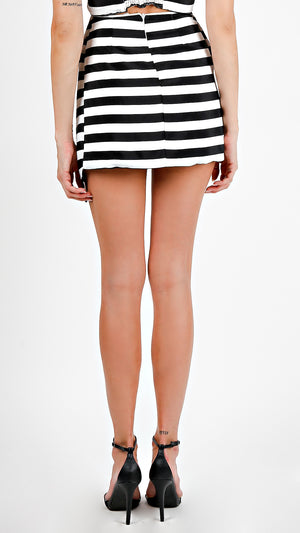 Striped Wrapped Skirt