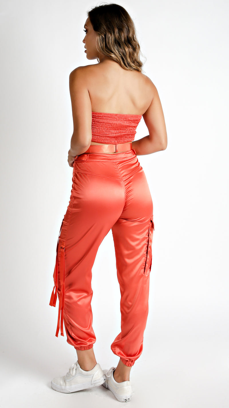 Satin Jogger Tube Set