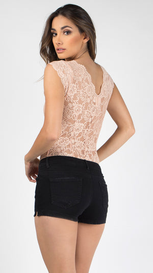Lacey Cut Out Bodysuit