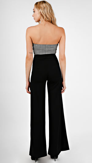 High Waisted O Ring Slit Pants