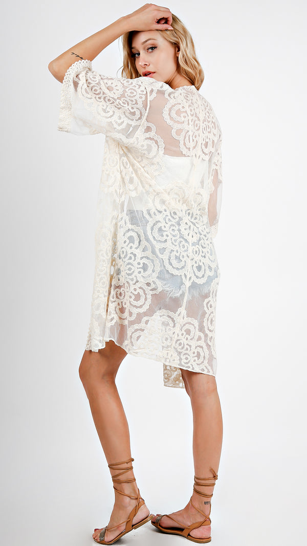 Crochet Lace Cover Up - Msky