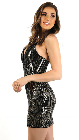 Sequin Fire Mini Dress