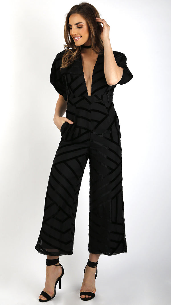 Velvet Burnout Jumpsuit