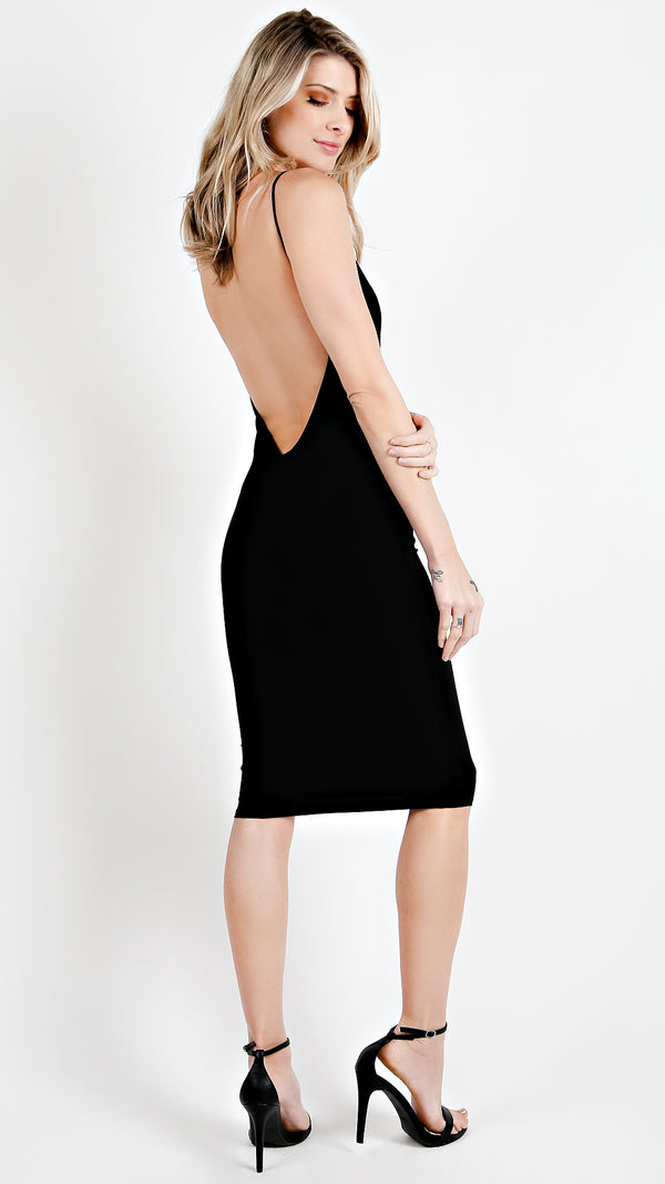 Backless Midi Dress - Msky