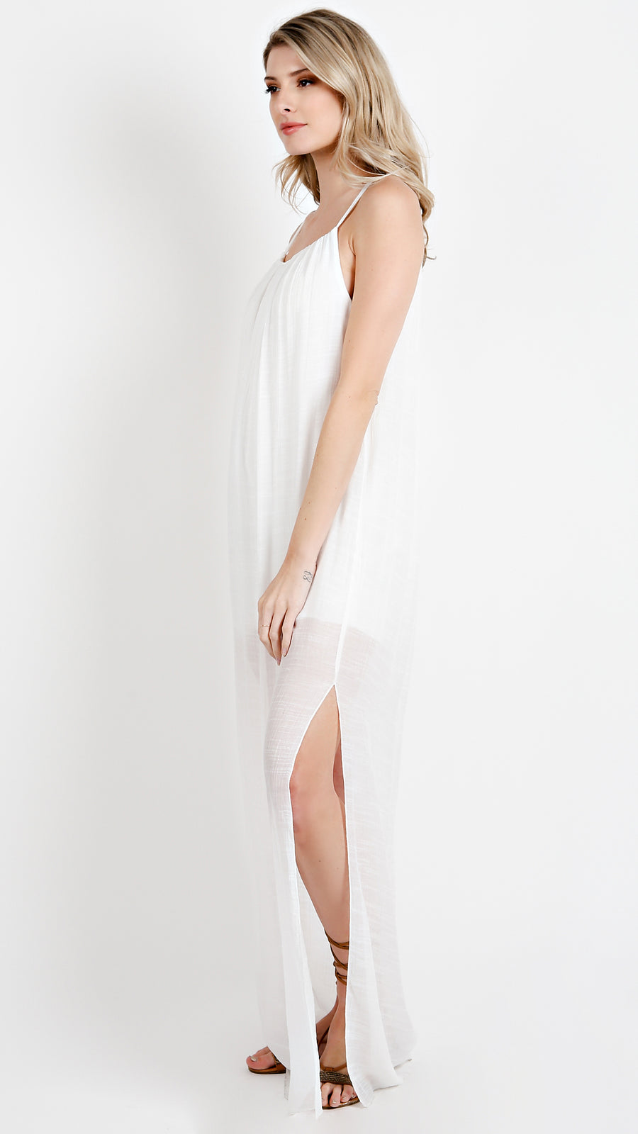 Bamboo Side Slit Maxi Dress