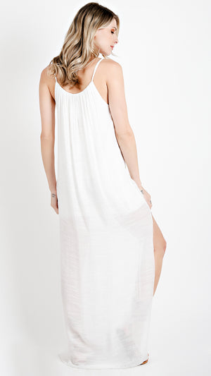 Bamboo Side Slit Maxi Dress - ANGL