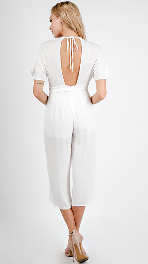 Breezy V- Neck Midi Length Jumpsuit
