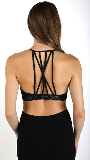 Strappy Back All Lace Bra