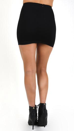 High Waisted Essential Mini Skirt