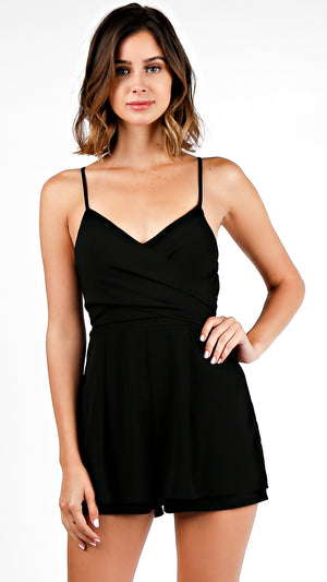 Front Or Back Tie Layered Romper