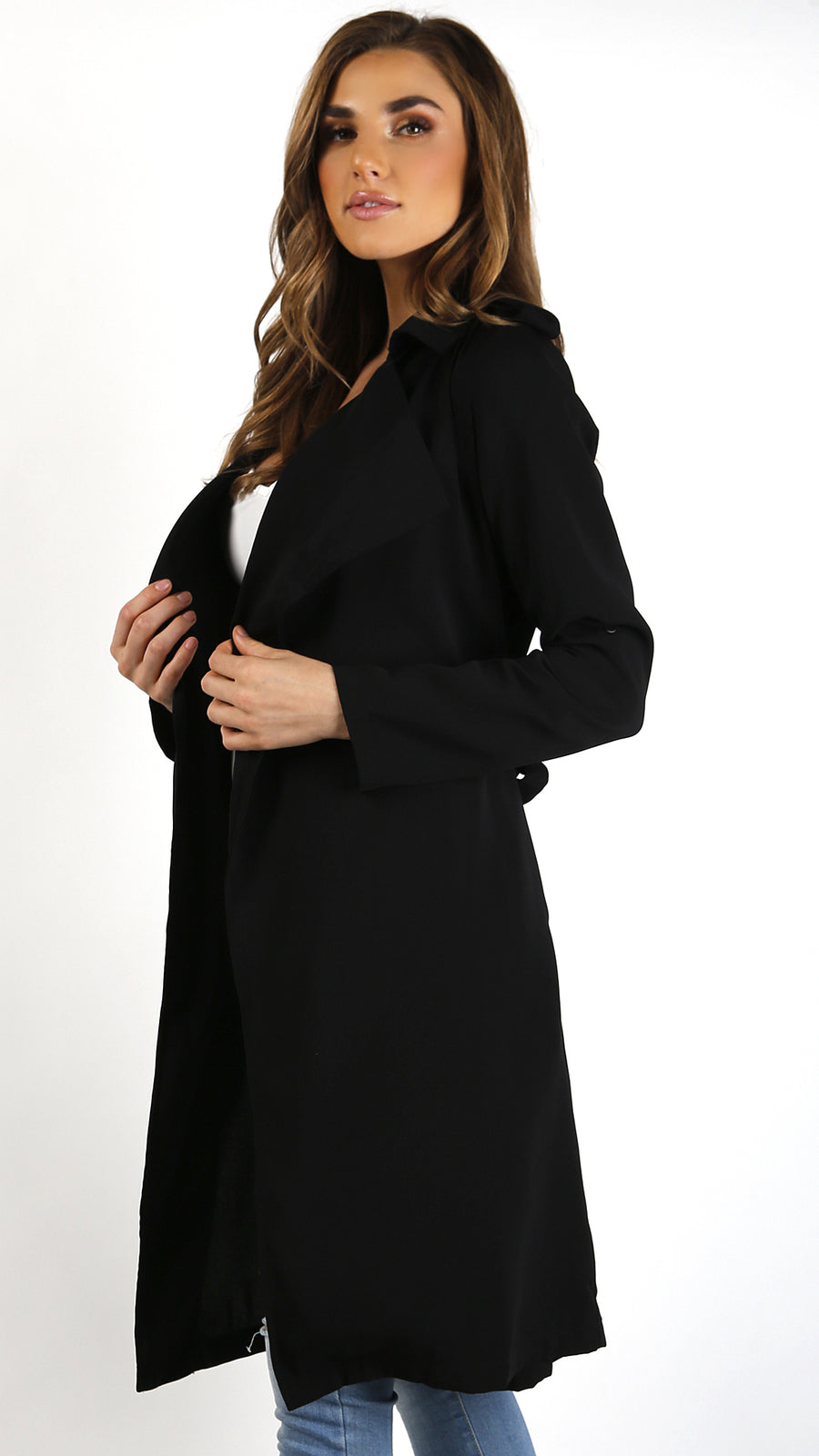 Roll Up Sleeve Trench Coat