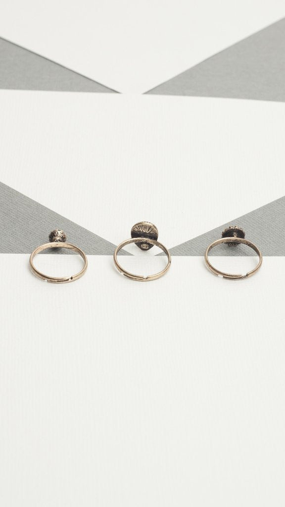 Antique 3 Piece Ring Set - Msky