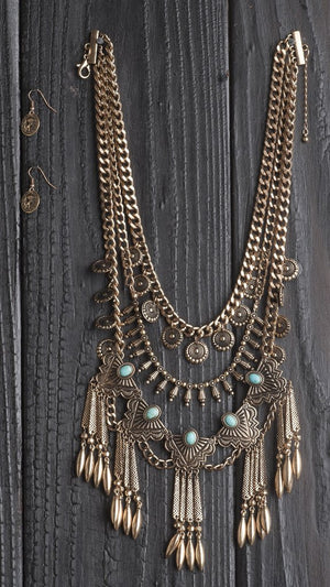 Everything Tribal Statement Necklace Set