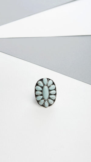 Turquoise Stone Stretch Ring