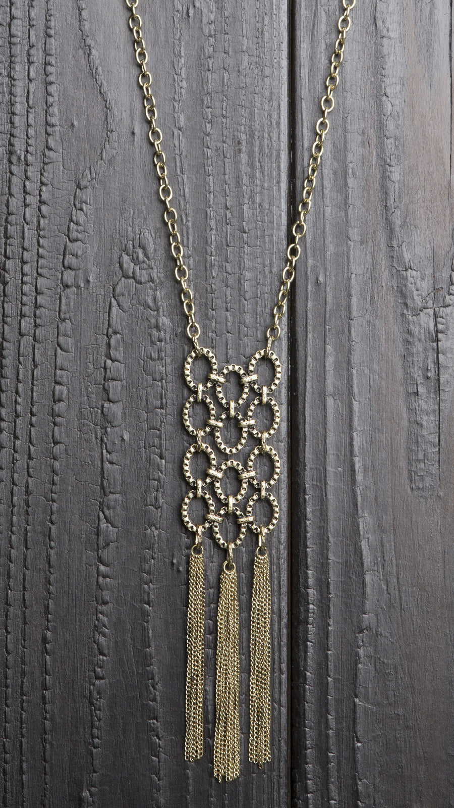 Chain Link Fringe Necklace