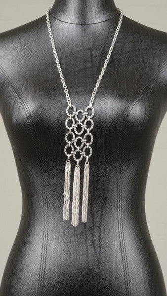 Chain Link Fringe Necklace - Msky
